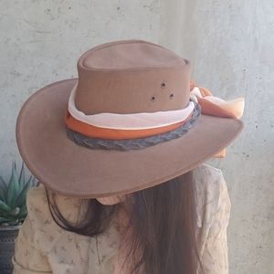 Leather / Suede Outback Western Hat